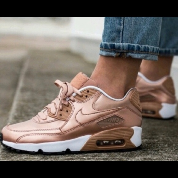 buy online 06617 42bd8 Nike Air Max 90 Rose Gold Size 7Y, Women's 8.5 NWT